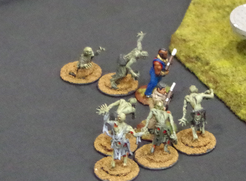 BA Barracas and Hannibal Smith duking it out with a mob of zombies.