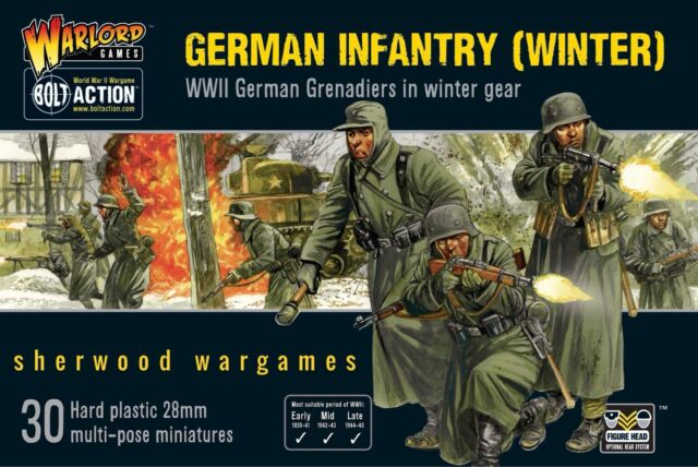 Finished a Platoon of German WWII Infantry in Winter Kit